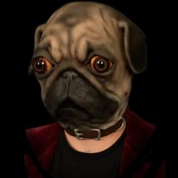 Pug Silicone Half Mask