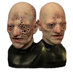 Crater Face Silicone Half Mask